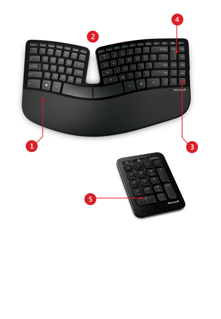 Microsoft Natural Ergonomic Desktop  Vs