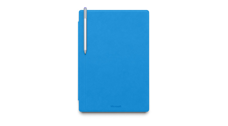 Microsoft Surface Pro 4 Type Cover in Cyan Blue Bottom View