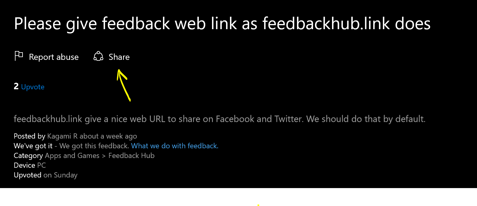 Windows 10 Feedback Hub gets shareable links in latest update OnMSFT.com November 4, 2016