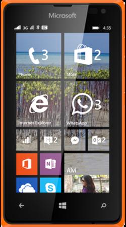 Lumia 435 oransje