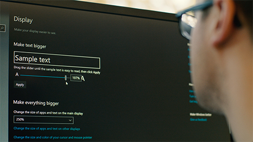 Make Windows easier to see: bigger text and mouse pointer