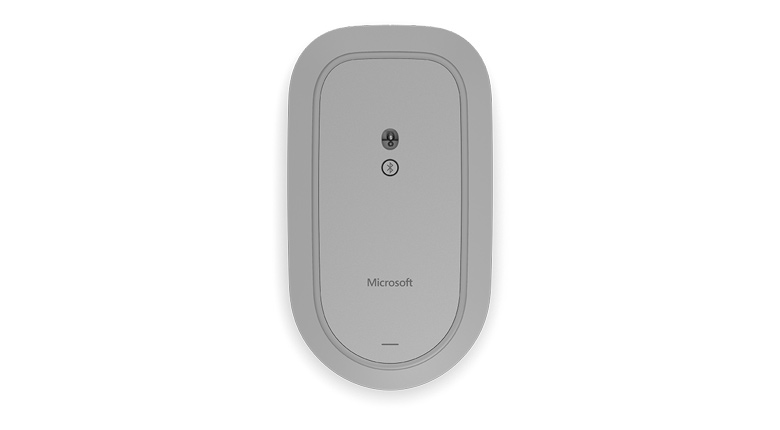 Microsoft Surface Mouse in Gray Bottom View