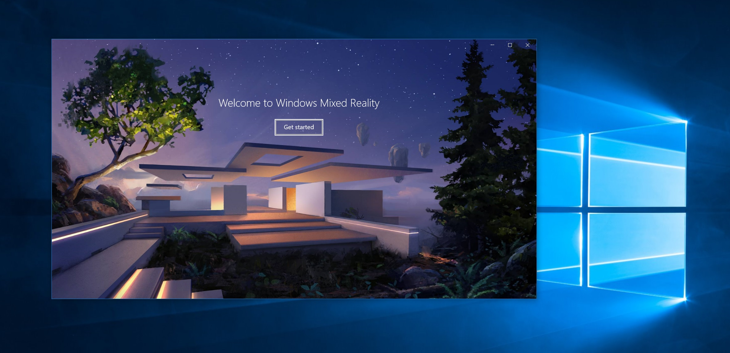 Windows Mixed Reality portal Welcome screen