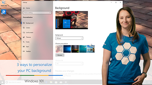 Windows 101: Three ways to personalize your PC background