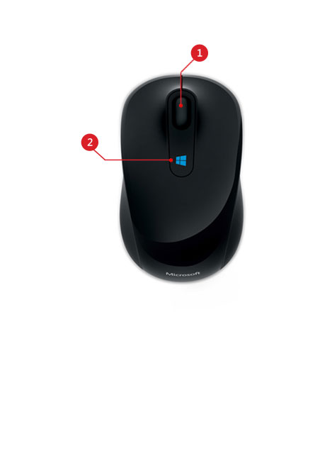 Sculpt mobile mouse features