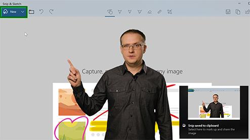 Use Snip & Sketch to take a screenshot in Windows 10