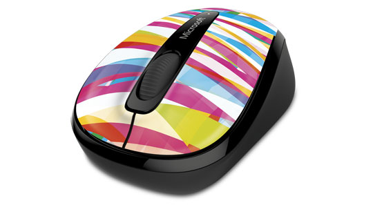 Microsoft Wireless Mobile Mouse 3500 Limited Edition in Bandage Stripes