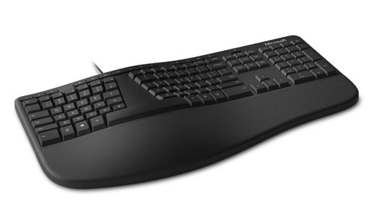 Microsoft Ergonomic Keyboard in Black