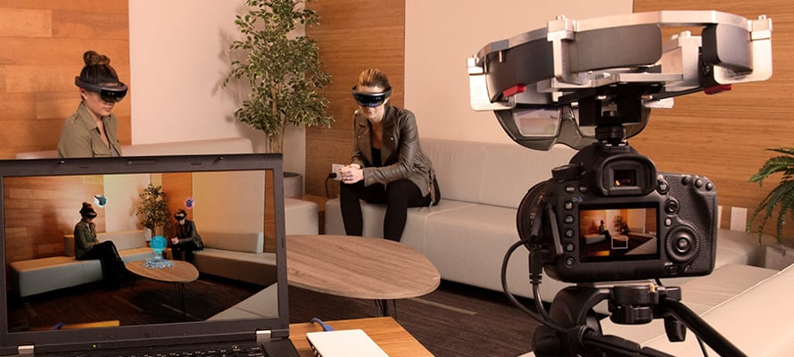 Record or livestream your HoloLens app to an audience with spectator view