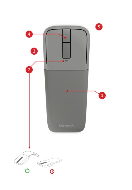 Arc Touch Bluetooth Mouse (アークタッチ Bluetooth マウス)