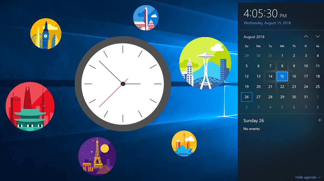 Windows clock is your most accurate timekeeper