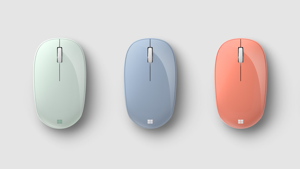 さまざまな色の Microsoft Bluetooth Mouse