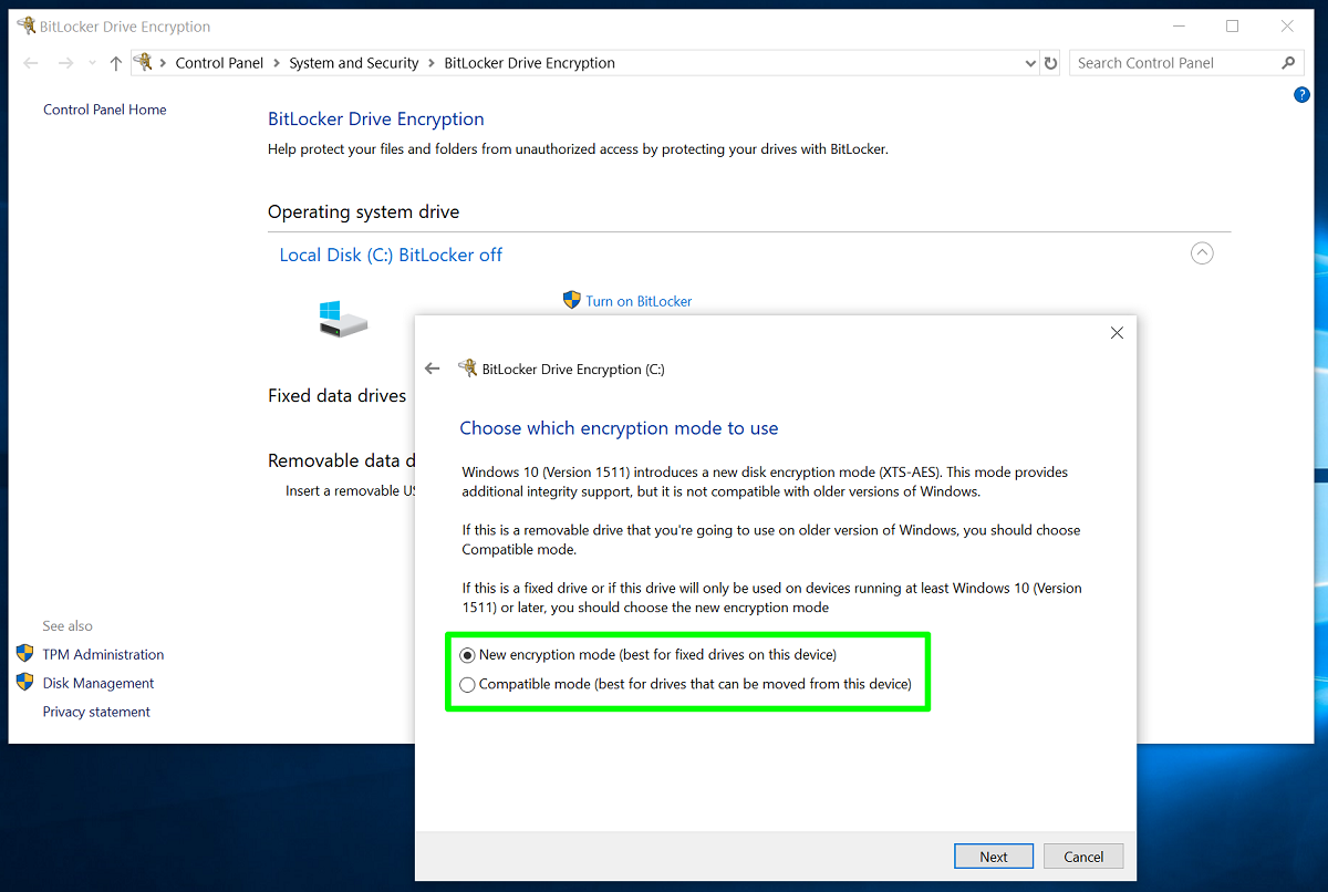 BitLocker and Windows 10 Pro protect your data | Windows Community