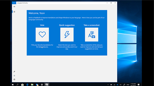 Help shape Windows in your language with Language Community app