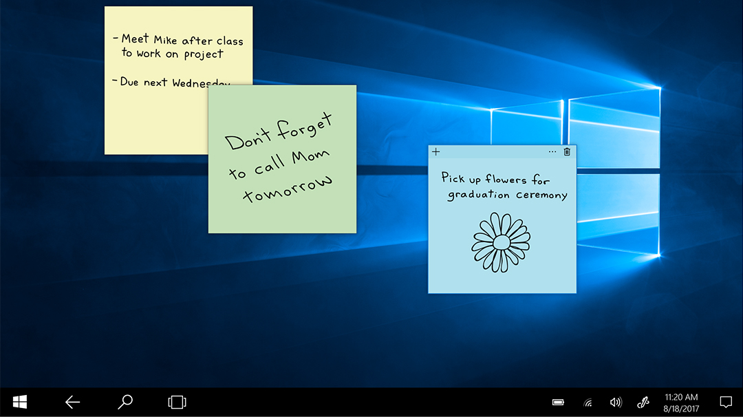 Stay organized with Sticky Notes in Windows 10
