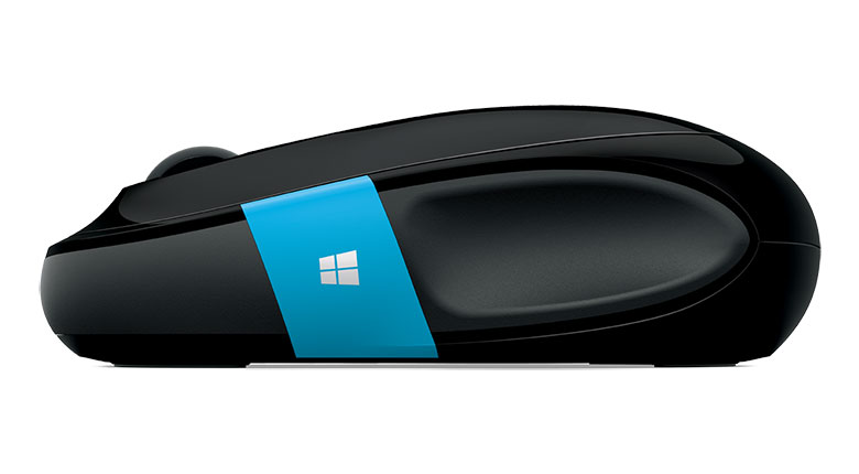 Side view of Microsoft Sculpt Comfort Mouse