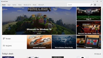 Getting trusted apps & games from the Microsoft Store