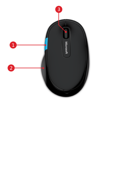Microsoft Sculpt Comfort mouse features