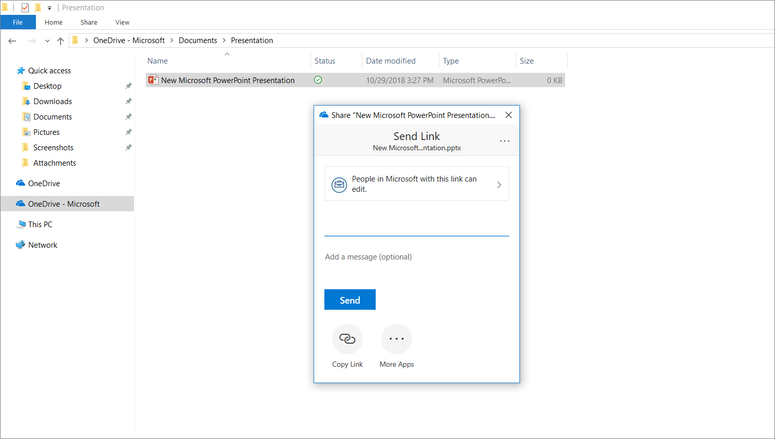 Share your files with OneDrive