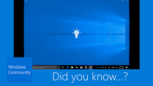Get Windows tips straight from Windows