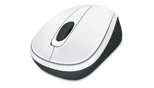 Souris Microsoft Wireless Mobile Mouse 3500 édition limitée en blanc