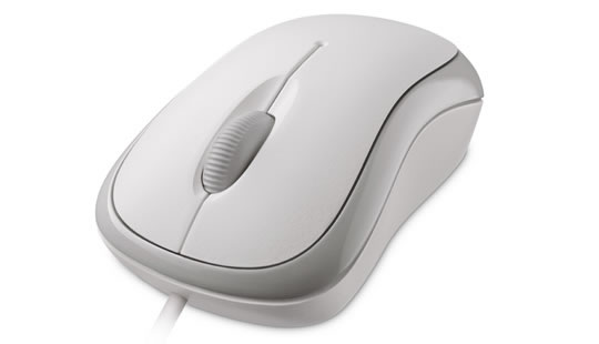 Microsoft Basic Optical Mouse in Grau