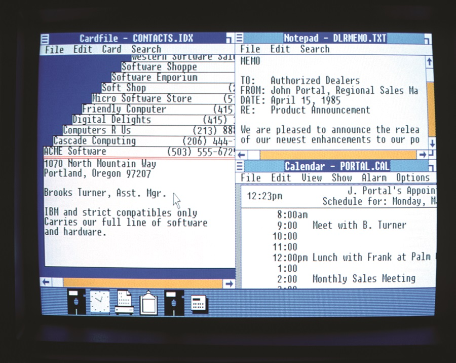 Screenshot of old Windows