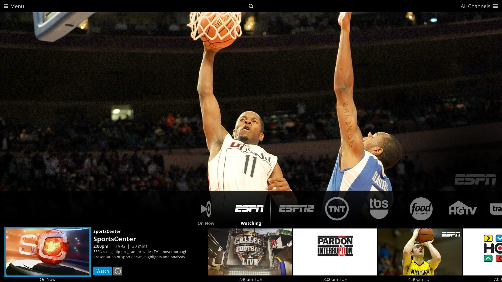 Screenshot of a basketball player raising ball into net