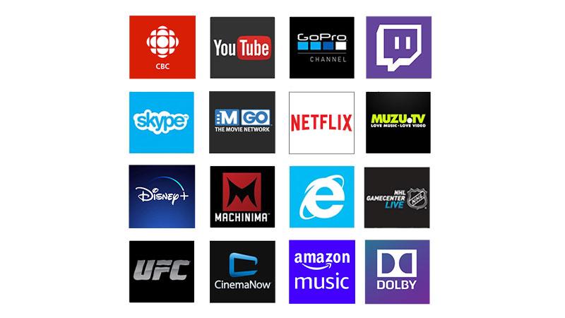 Accédez à des centaines d'applications et de services sur votre Xbox: films, musique et jeux.