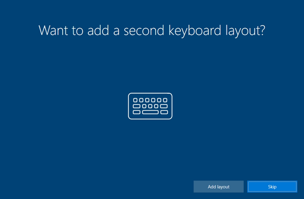 Out of box second keyboard layout